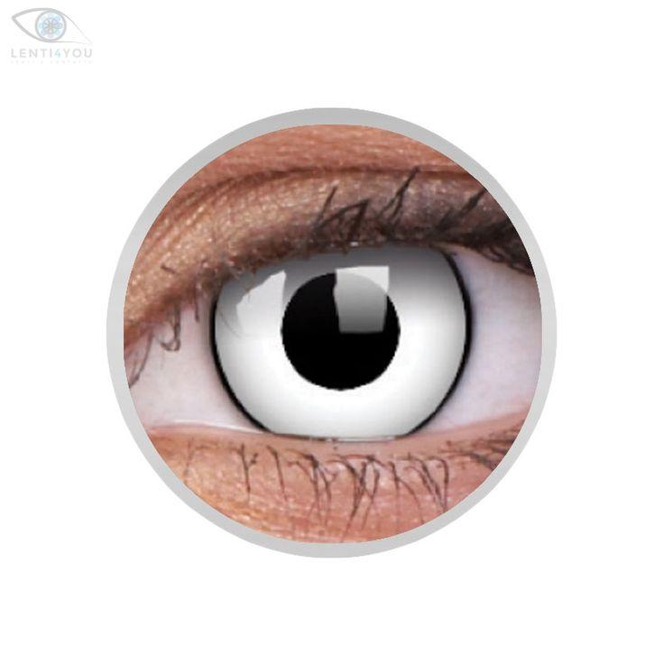 Lenti a contatto colorate bianche WHITE ZOMBIE Crazy Lens 2 lenti. ColourVue | Lenti4YOU