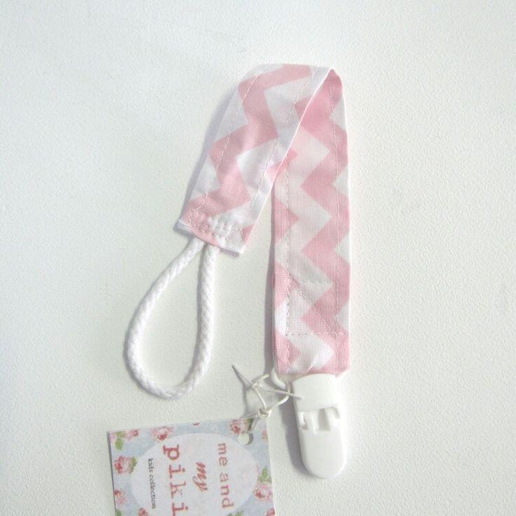 Corrente de chucha zigzag rosa