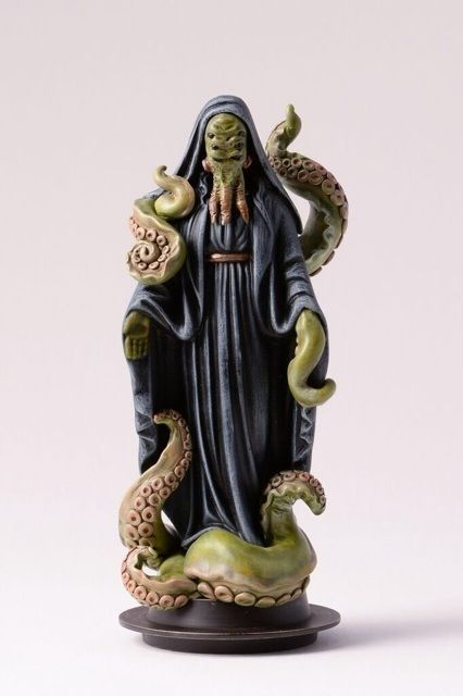 """Archie McPhee's Endless Geyser of AWESOME! - Please raise your tentacles and join us in a round of chanting """"Cthulhu fhtagn"""" in praise of the latest addition to our collection of irreverent religious icons. Melbourne, Australia-based sculptor Julian Briones just announced this awesomely unsettling figure, """"Cthulhu Priestess: Our Lady of Squid."""""""