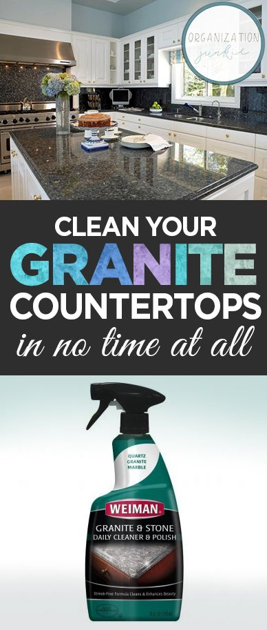 Clean Your Granite Countertops In No Time At All  How To Clean Granite  Countertops, Simple Ways To Clean Granite, Cleaning Granite Countertops,  Cleaning, ...