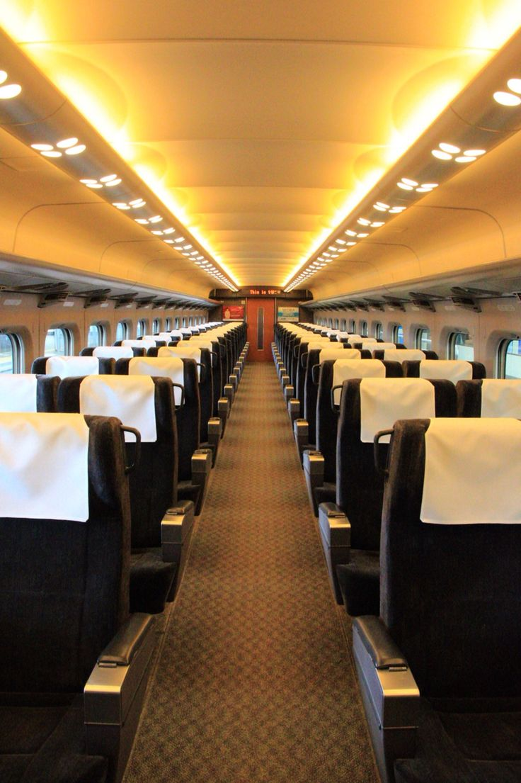 the cabin of shinkansen (Tokaido-Sanyo line)