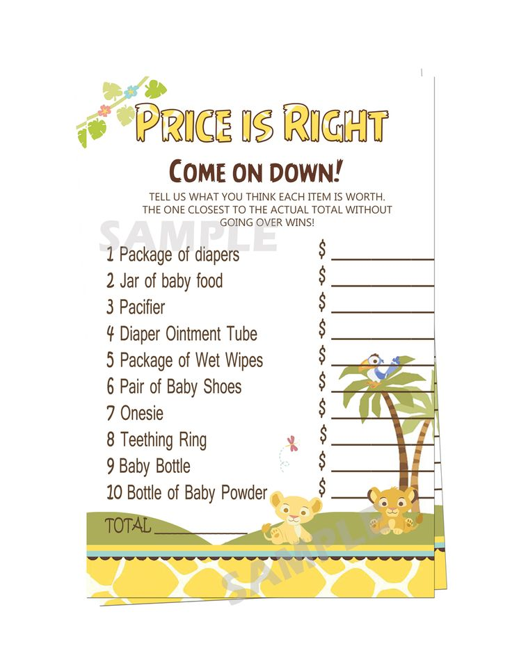 partyexpressinvitations - Baby Simba Lion King Baby Shower What Price is Right, $3.99 (http://www.partyexpressinvitations.com/baby-simba-lion-king-baby-shower-what-price-is-right/)