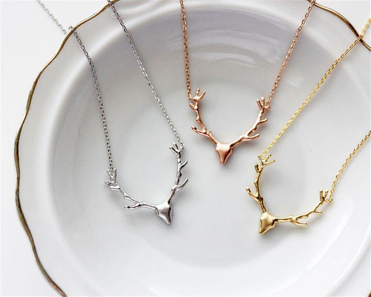 Deer Horn Antler Necklace