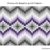 Diamonds Bargello Quilt Pattern - via @Craftsy
