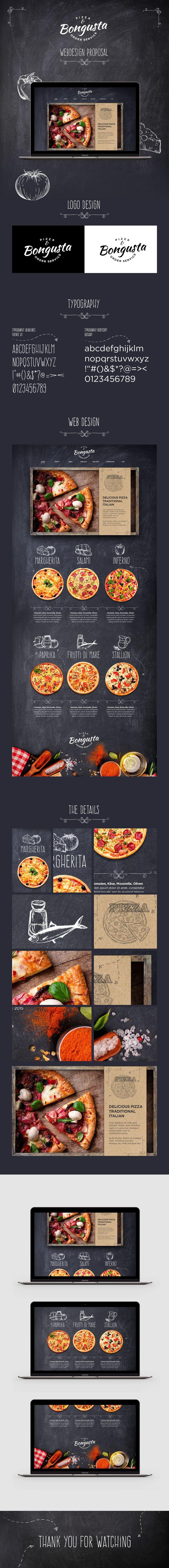 Bongusta Pizzeria u2022 Webdesign Proposal on Behance