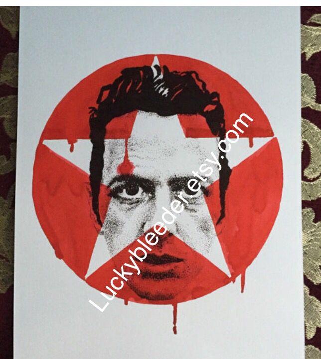 Joe strummer pen and ink illustration. The Clash
