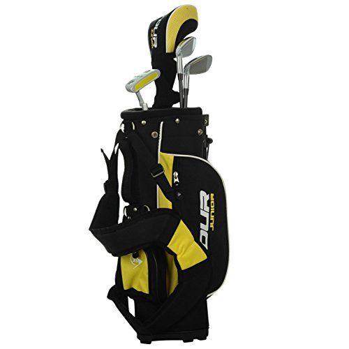 UK Golf Gear - Dunlop Kids Junior Premium Golf Tour Set Sports Driver Putter Bag Graphite Shaft