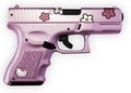 Something most people don't know about me; I believe in carrying concealed weapons. I believe all guns should be pink, little, and cute, and should be issued to all women. That will make the bad guys feel silly carrying them. And think twice about hurting women. (HK pistol)