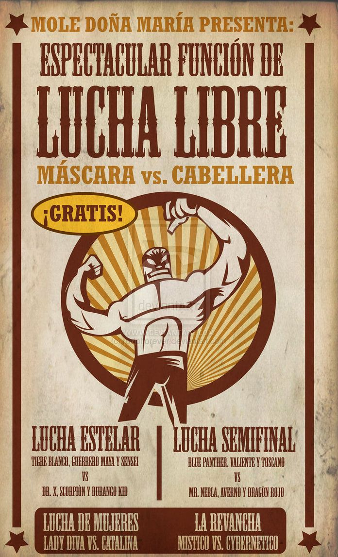 LUCHA LIBRE poster by ~rodolforever on deviantART