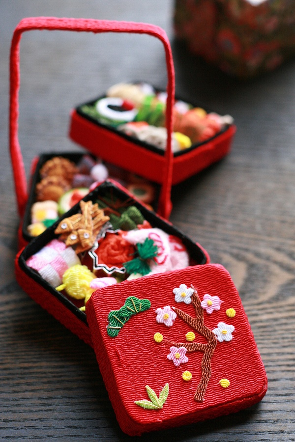 Japanese Toys And Gifts : Japanese miniature osechi food toy japan geisha maiko