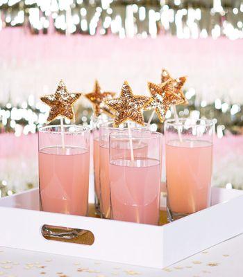 Sequinned Star Stir Sticks - Confetti Pop