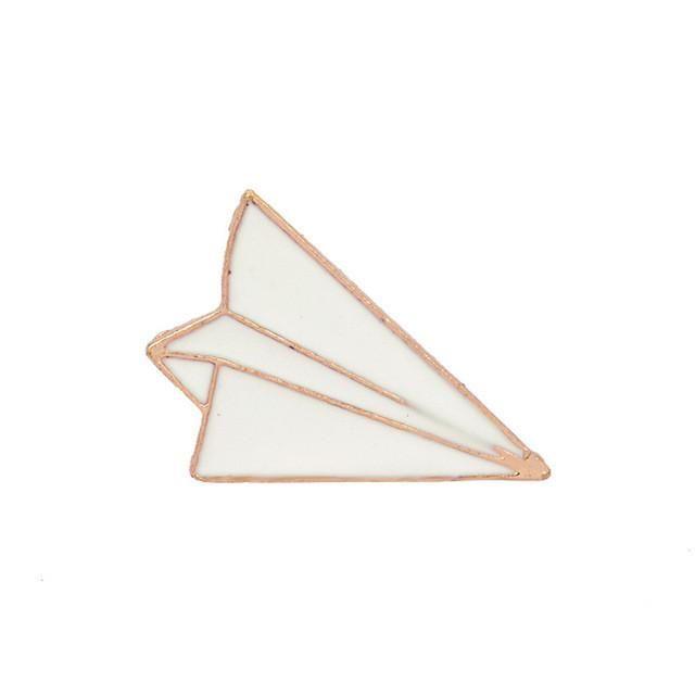 Paper Plane Enamel Brooch | Food Par Gear