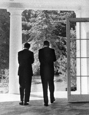bobby and jack kennedy at white house | President Kennedy and Robert Kennedy - October, 1962