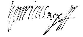 Signature of Henry III of France as King of Poland