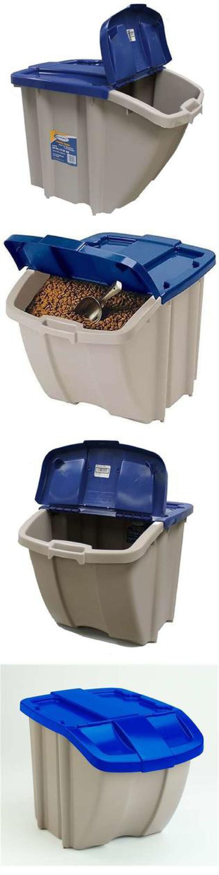Dishes Feeders And Fountains 177789 Dog Food Container Storage Bin 50 Lbs Pet Cat Feeding
