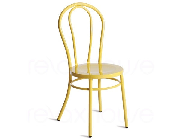 relax house furniture. replica thonet vienna bentwood steel dining chair in yellow from relax house furniture