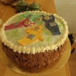 Teletubbies cake for twins birthday