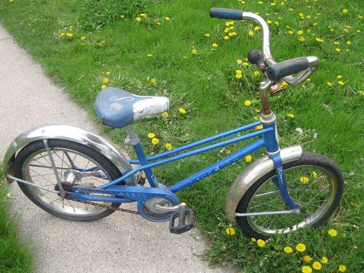 """VINTAGE SCHWINN PIXIE BIKE BLUE BOY GIRL 16"""" SADDLE SEAT ANTIQUE RETRO CRUISER #Schwinn"""