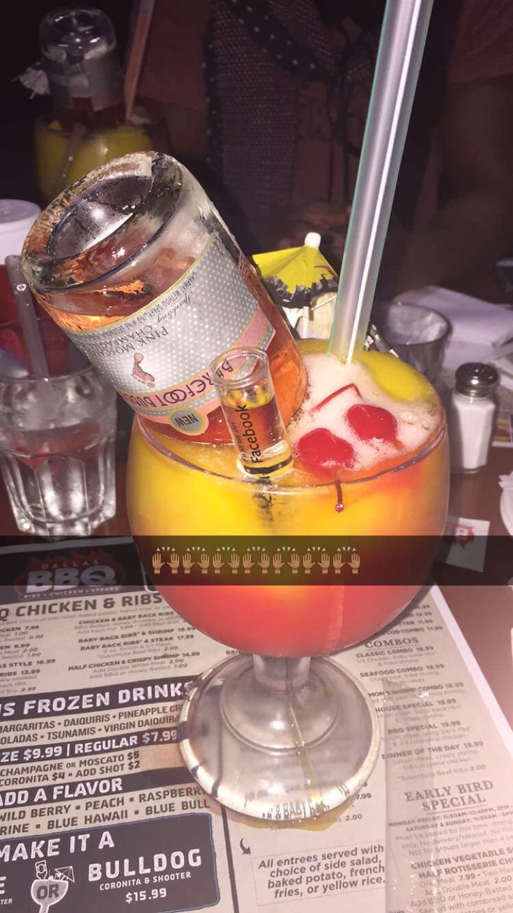 Patron, Hennessy, mango and strawberry flavor, ciroc and bare foot all in one