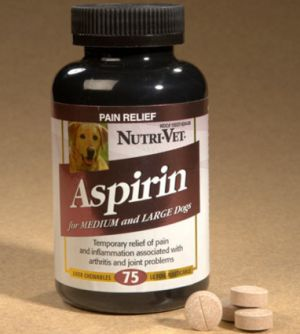 Is Aspirin safe for dogs? How much can you give per weight? Aspirin is a common pain reliever that is also used in dogs to relieve pain and treat inflammation. Ridding your dog of any pain is just as much as taking a pain reliever yourself. Here is how to use aspirin in dogs to treat pain and inflammation due to various problems such as arthritis, injury and cancer. Read Caution: