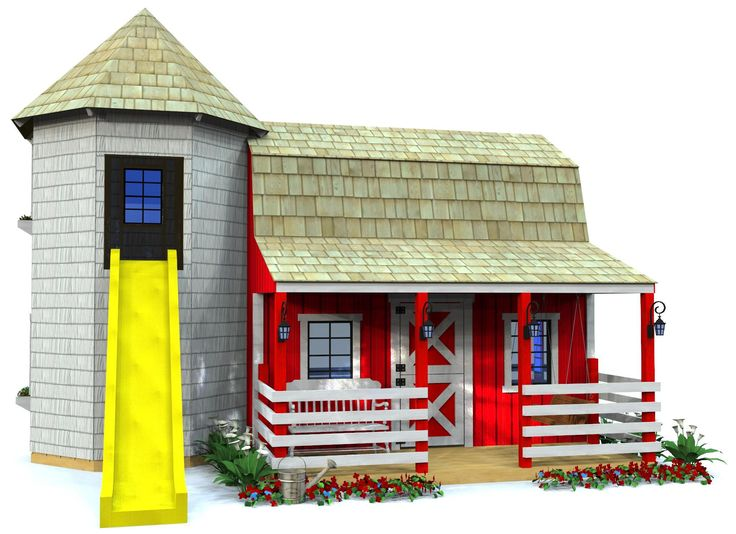 Barn silo playhouse plan playhouses pinterest for Barn and silo playhouse