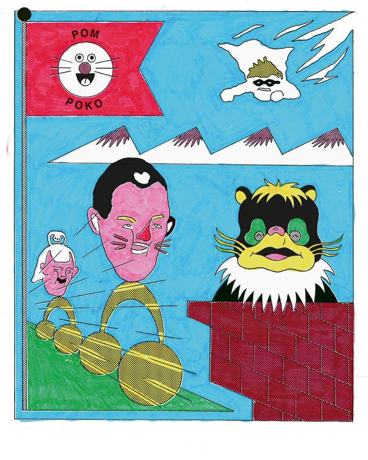 Norwegian illustrator Erlend Peder Kvam embodies distinctive silliness.