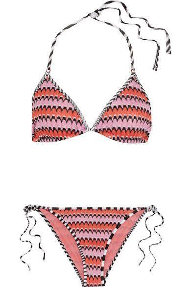 Missoni - Mare Crochet-knit Triangle Bikini - Pink