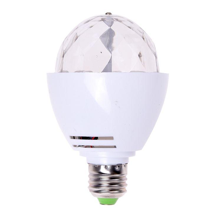 E27 3W LED Rotating RGB Lamp Spotlights Stage Party AC 85-260V #Affiliate