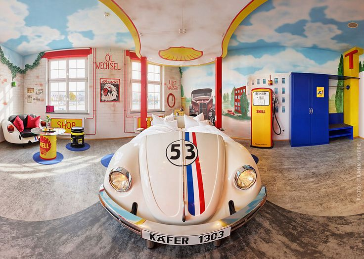 V8 Hotel - Stuttgart, Germany - gas station theme room