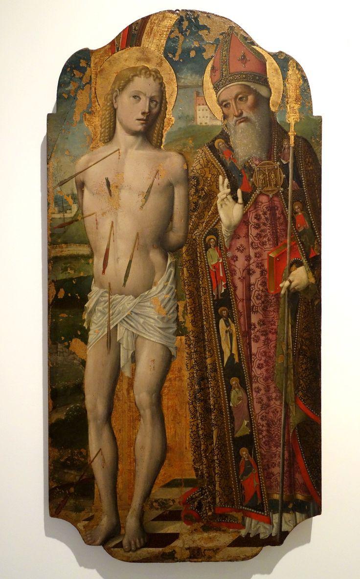 Niccolo Corso - Saints Sebastian and Saint Augustine. 1490