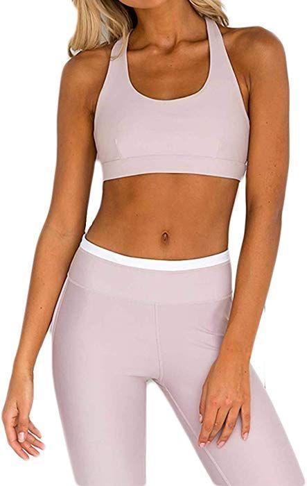 a05c622d2d0 Women 2Pcs Set Sport Gym Yoga Vest Bra+Legging Pants (Large