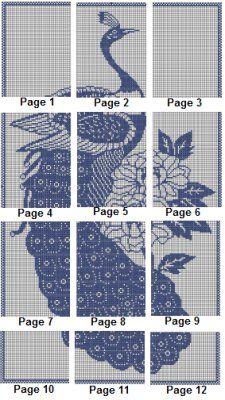 Free+Peacock+Cross+Stitch+Patterns   Peacock Peacock Silhouette Cross Stitch Pattern [Silhouettes] - $4.00 ...
