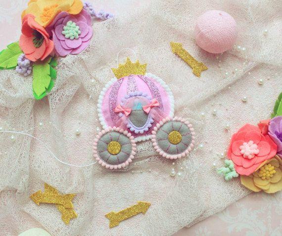 Princess carriage miniature princess nursery by MiracleInspiration