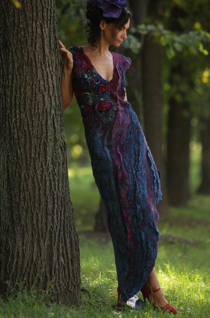 UKRAINE - IRENA LEVKOVICH, felt unitedNuno Felt Dresses, Felt Clothing, Fashion Felt, Dresses Phantom, Handmade Dresses, Nunofelt, Irena Levkovich, Fiber Art, Felt Artists