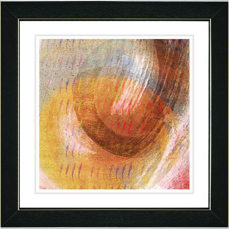 Orange Amber Moon Glow by Zhee Singer Framed Graphic Art in Orange