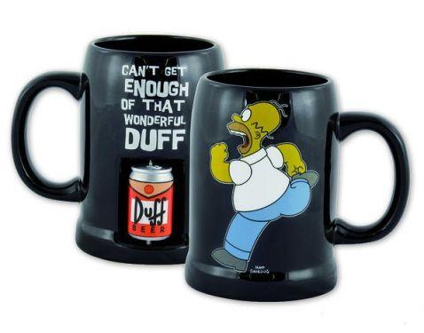 The Simpsons - Hrnek s točící plechovkou Duff