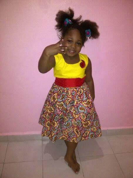 Lovely ankara girls dress african kids fashion for Kids dress fabric