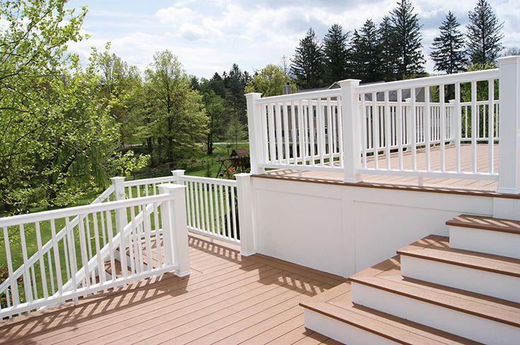Composite Privacy Designs : Composite deck builder trex pictures curved