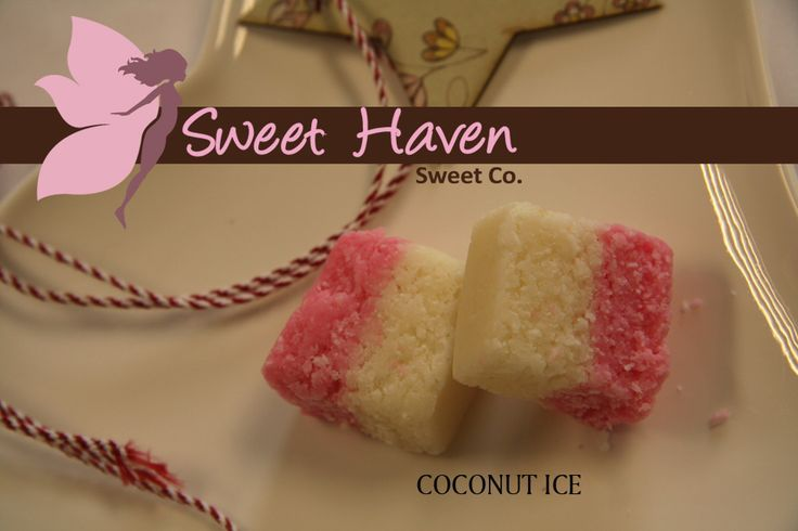 Individually pillow wrapped blocks of feather light coconut ice. #SweetHaven