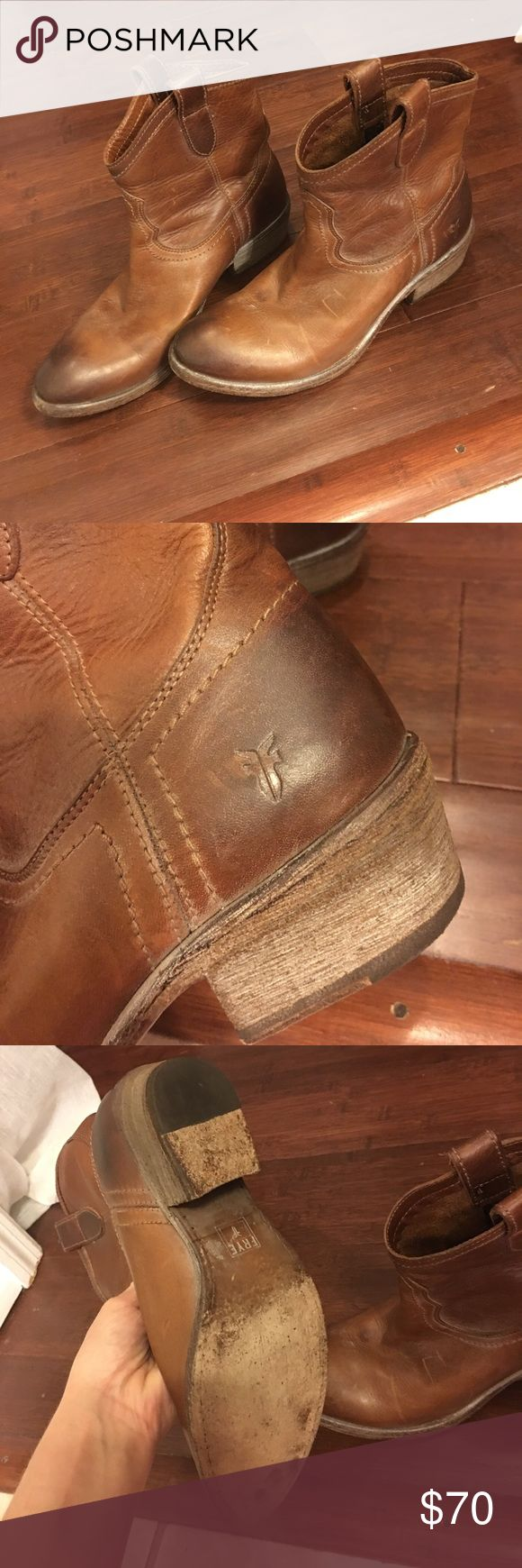 Gently used fry boots Gently used fry boots had gentle used marks which is typical for this distressed look Frye Shoes Ankle Boots & Booties