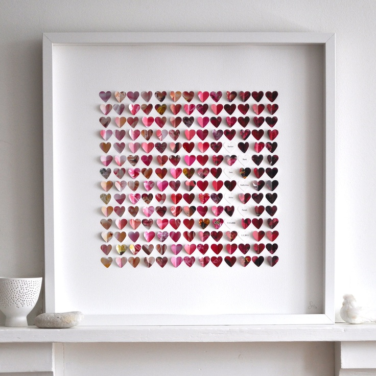 Flower, Sky, Stone - Personalized Little Hearts - Large size framed picture - Pink, Blue, Beige. Perfect wedding, anniversary present.. $190.00, via Etsy.