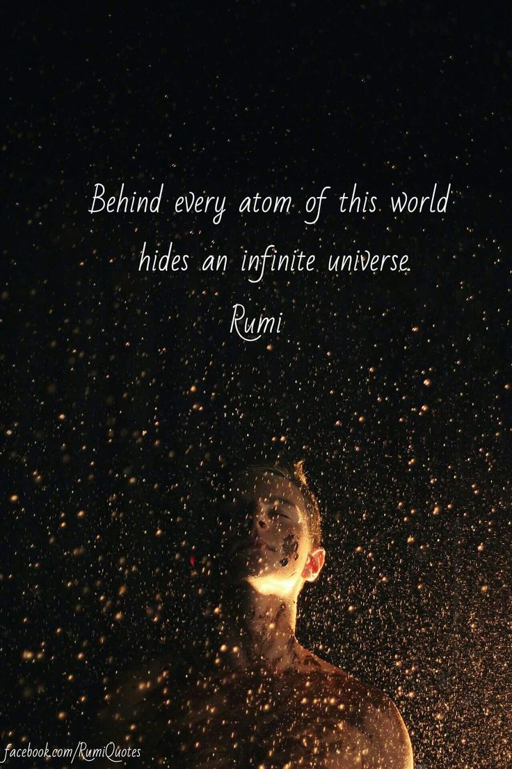 Behind every atom of this world hides an infinite universe. - Rumi
