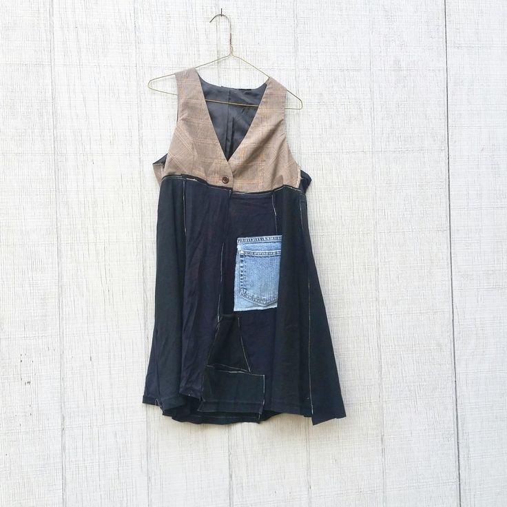 Sleeveless Tunic, Black Shirt, Upcycled Tunic, Hoodie, Black Top, Repurposed, Upcycled Clothing, Boho Shirt, Refashioned Shirt, Loose Fit by CreoleSha on Etsy