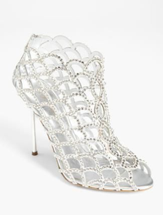 silver heels - wedding, makes me thing of Victorian boot meets stiletto and peep toe.