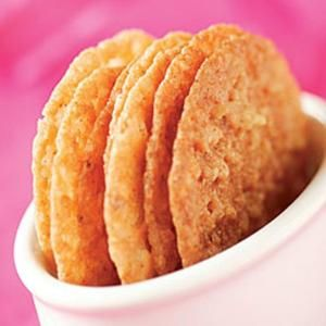 Macadamia Lace Cookies ---------- 4 oz. (1/2 cup) unsalted butter, cut into 5 pieces 4-1/2 oz. (1cup) finely chopped lightly salted macadamia nuts 1cup granulated sugar 1 large egg, lightly beaten 1tsp vanilla bean paste 1/2tsp table salt