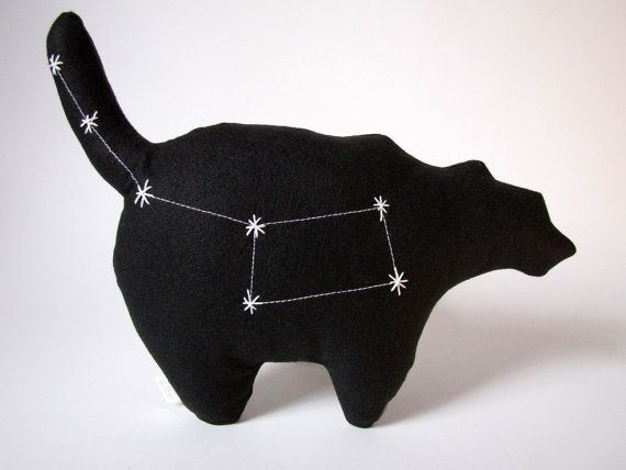 Ursa Minor Constellation- The Little Bear in Black