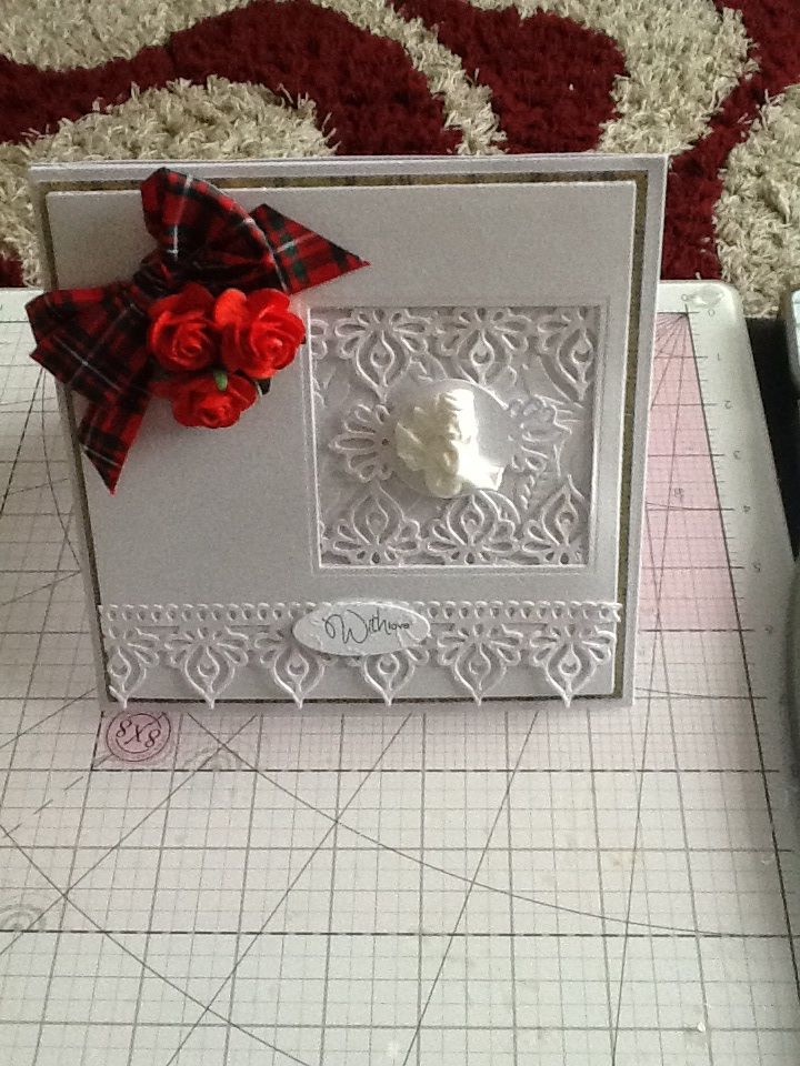 For this card I used Spellbinders Grand Squares