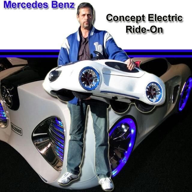 Mercedes Benz Concept Electric Ride On Toy Sports Car With Lighted Wheels U2013  Parental Remote