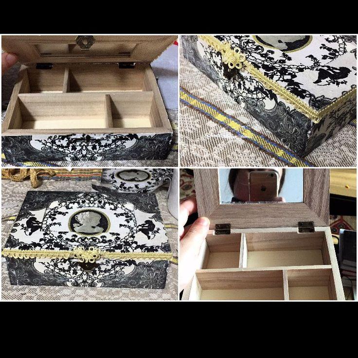 Jewelry box #handmadewithlove #vintage #hobby