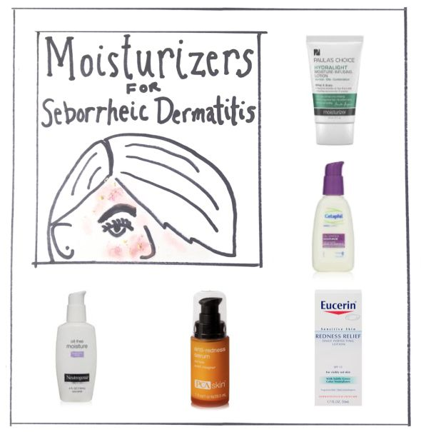 Best day moisturizers for seborrheic dermatitis (or sensitive skin, acne prone skin, FACE DANDRUFF, etc) Great list of suggestions on this site! Most of the are around $10 and will change your life